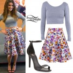 Jacquie Lee: Gray Crop Top, Floral Skirt