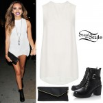 Jade Thirlwall leaving Whisky Mist . October 4th, 2014 - photo: littlemix-news