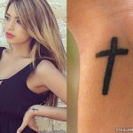 Jasmine Villegas cross wrist tattoo