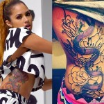 Jasmine Villegas flower side tattoo