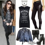 Jesy Nelson: Graphic Top, Panel Leggings