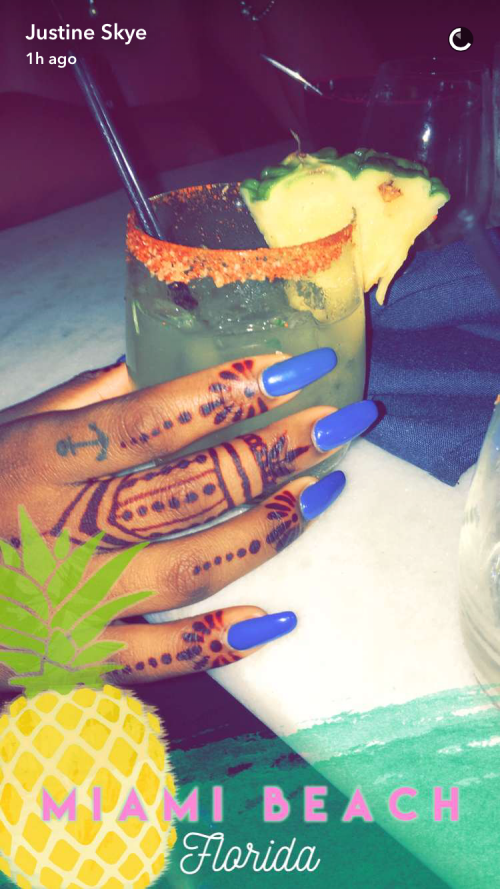 Snapchat / Justine Skye