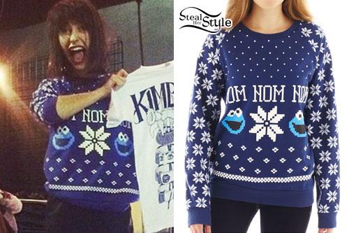 Kimbra: Cookie Monster 'Om Nom Nom' Sweater