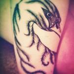 kristen-may-swan-arm-tattoo