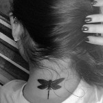 lauren-jauregui-dragonfly-neck-tattoo