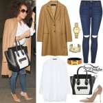 Leigh-Anne Pinnock: Camel Coat, Ripped Jeans