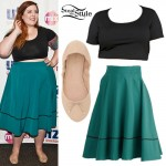 Mary Lambert: Green Skirt, Ballet Flats