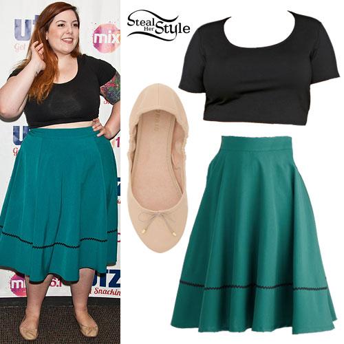 Mary Lambert: Green Skirt, Ballet Flats