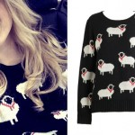 Meghan Trainor: Sheep Print Sweater