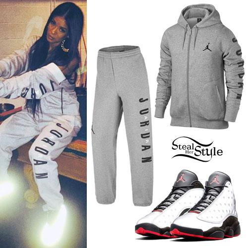 Mila J: Jordan Sweatsuit, Reflective Sneakers