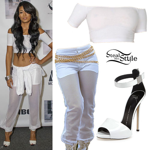 Mila J: Mesh Joggers, White Sandals
