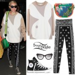 Miley Cyrus: Bunny Sweatshirt, Bandana Leggings