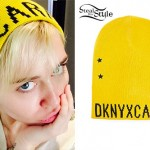 Miley Cyrus: Yellow DKNY x Cara Beanie