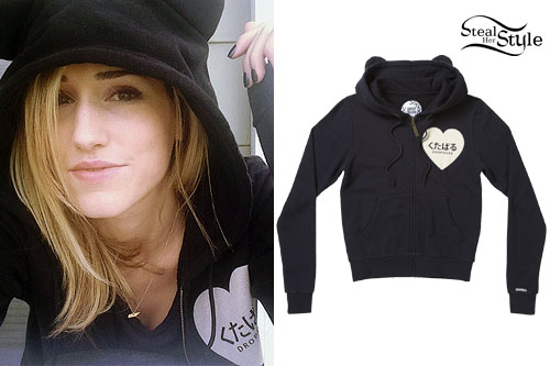 Mindy White: Cat Ears Zip-Up Hoodie