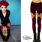 Nia Lovelis: Burgundy Velvet Cutout Leggings