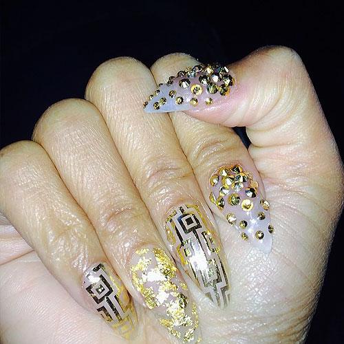 nicki minaj pointy nail designs wwwimgkidcom the