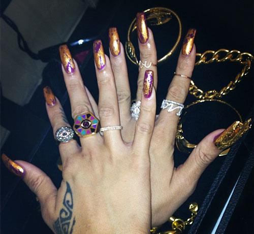 Rihanna's Nail Polish & Nail Art   Steal Her Style