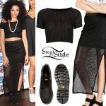 Shereen Cutkelvin: Crop Top, Mesh Skirt