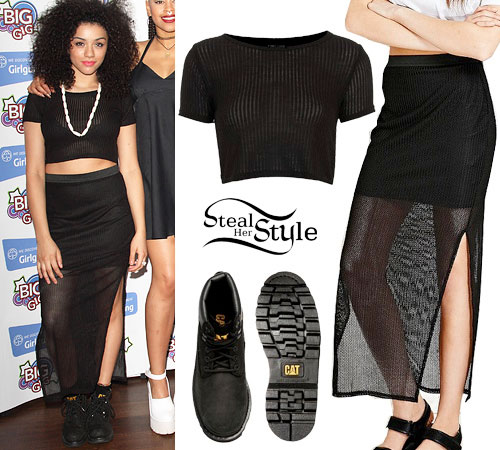 Shereen Cutkelvin: Crop Top, Mesh Skirt