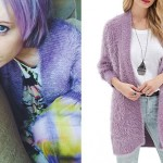 Sherri DuPree-Bemis: Purple Fluffy Cardigan
