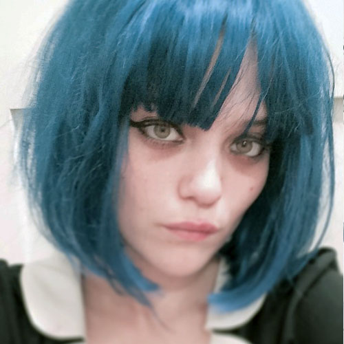 sky ferreira straight blue bob wig hairstyle steal her. Black Bedroom Furniture Sets. Home Design Ideas
