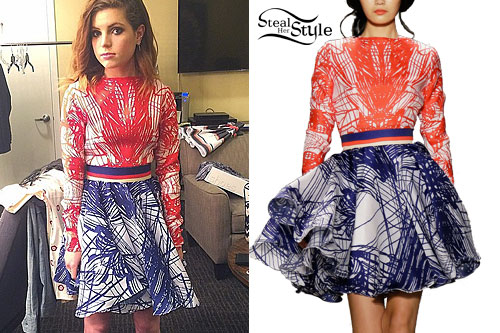 Sydney Sierota: Red & Blue Abstract Print Dress