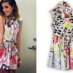 Sydney Sierota: Splatter Paint Shirtdress