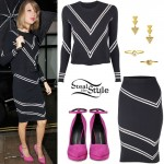 Taylor Swift: Black Sweater, Pencil Skirt