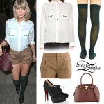 Taylor Swift: Eyelash Shirt, Pleated Shorts
