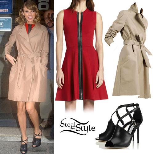 Taylor Swift: Trench Coat, Zipper Dress