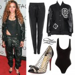 Tinashe: Varsity Jacket, Studded Pumps