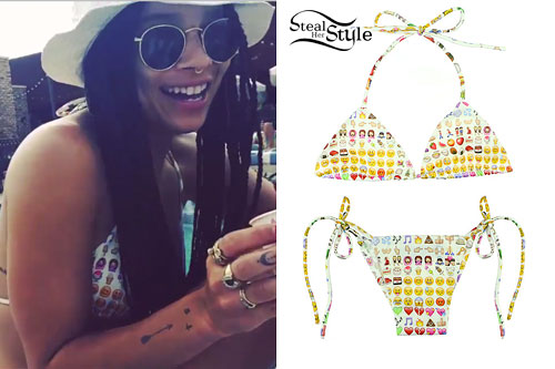 Zoë Kravitz: Emoji Print Bikini