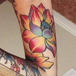 allison-green-lotus-arm-tattoo