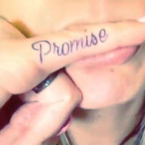 Allison Green pinkie promise finger tattoo