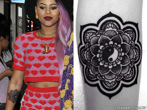 Amira McCarthy mandala arm tattoo