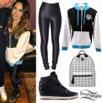 Becky G: Black & White Colorblock Hoodie