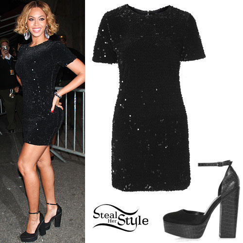 Beyonce: Sequin Dress, Platform Shoes