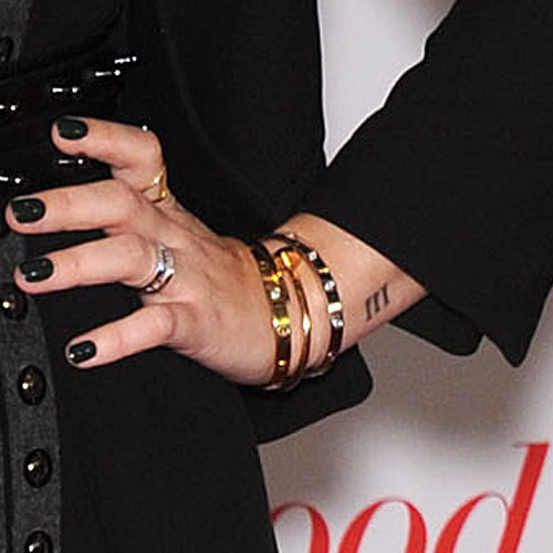 Demi Lovato Roman Numeral Iii Wrist Tattoo For Her Dad Steal Her
