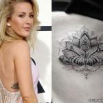 ellie-goulding-lotus-side-tattoo