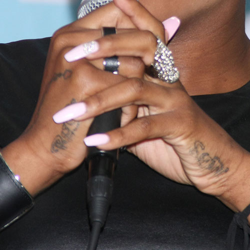 Fantasia Barrino Writing Side Of Hand Tattoo Steal Her Style
