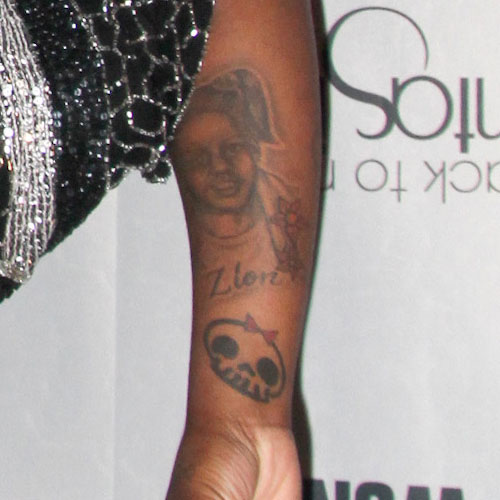 Celebrity Skull Tattoos Steal Her Style