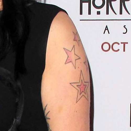 Franka Potente Star Upper Arm Tattoo   Steal Her Style