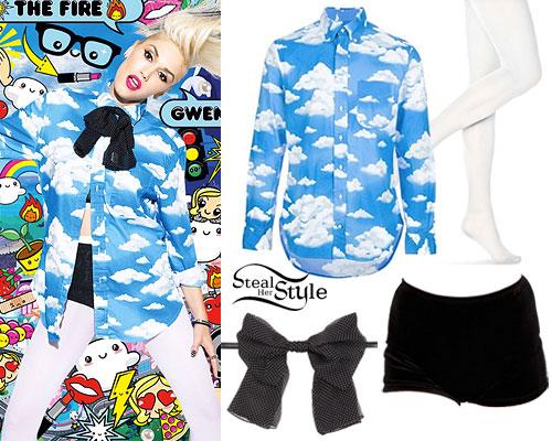Gwen Stefani: Cloud Print Button-Up Shirt