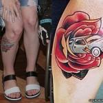 hayley-williams-car-leg-tattoo