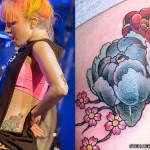 hayley-williams-flower-side-tattoo