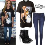 Jade Thirlwall: Sequined Top, Blue Jeans