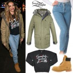 Jade Thirlwall: Green Parka, Blue Jeans