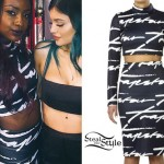 Justine Skye: Trapstar Crop Top & Skirt
