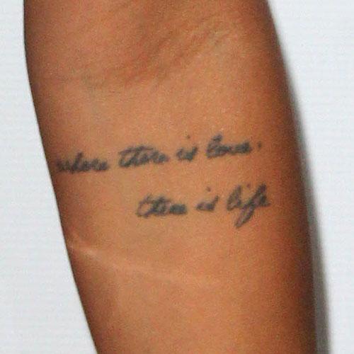 Karrueche Neck Tattoos
