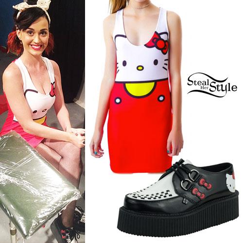 Katy Perry: Hello Kitty Dress & Creepers